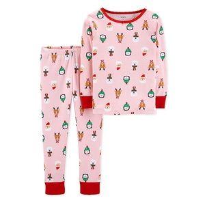 Carter's: Pink Christmas Cotton 2pc Pajama Set